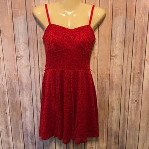 LILY ROSE bright red mini cocktail dress